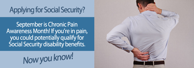 Can I apply for chronic pain?