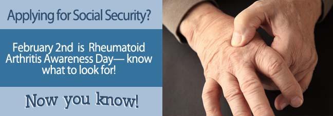 February 2nd: Rheumatoid Arthritis Awareness Day