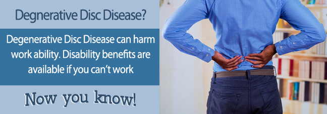 If you cannot work because of degenerative disc disease, you may qualify for Social Security disability benefits.