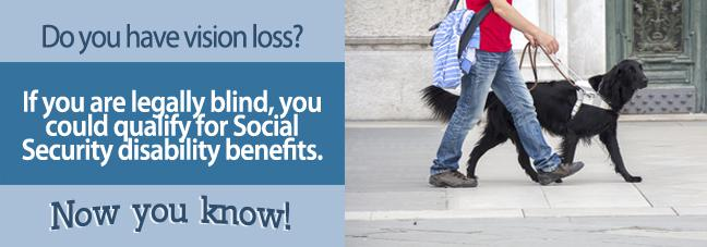 Qualifying for Social Security with vision loss