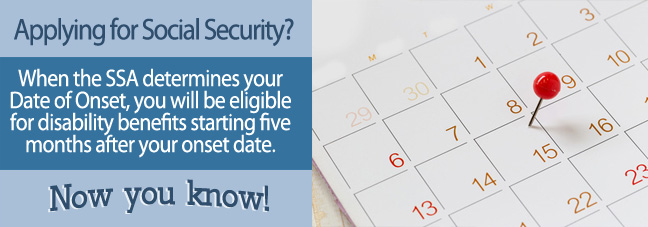Date of onset is the date the Social Security disability benefits applicant became disabled.