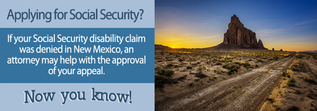 Disability benefits in New Mexico