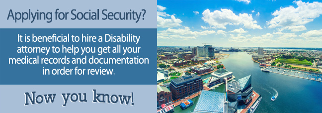 Disability benefits in Maryland