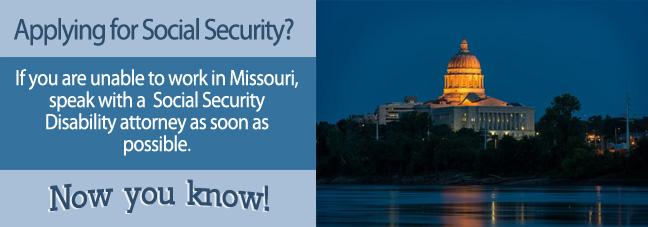 Disability benefits in Missouri