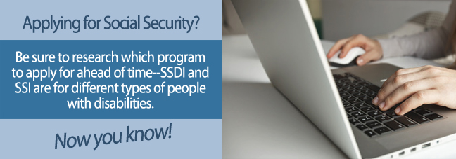 How to know to apply for SSDI or SSI
